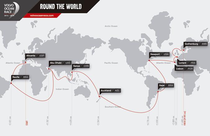 """""""Un reto inmenso"""". La Volvo Ocean Race 2014-15 traza sus rutas"""