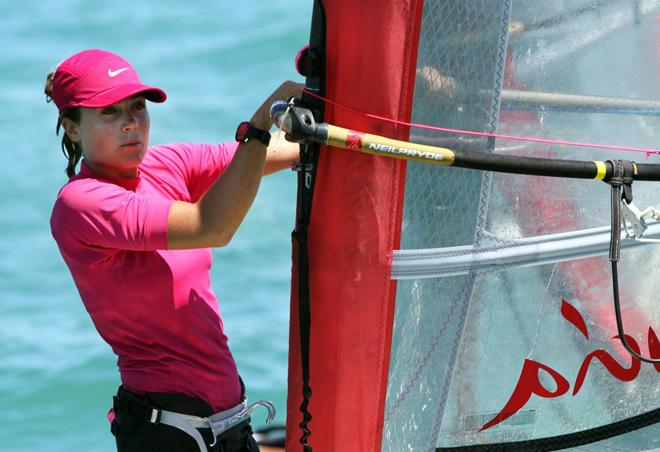 La windsurfista sevillana Blanca Manchón