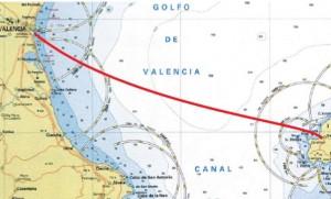 carta náutica Valencia - Sant Antoni - Ibiza