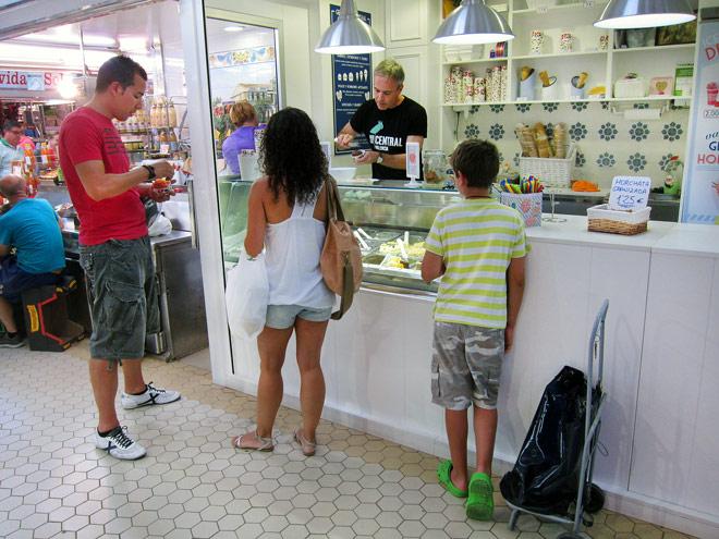 Helados artesanales para todo el año. Gelateria Central, Mercado Central de Valencia