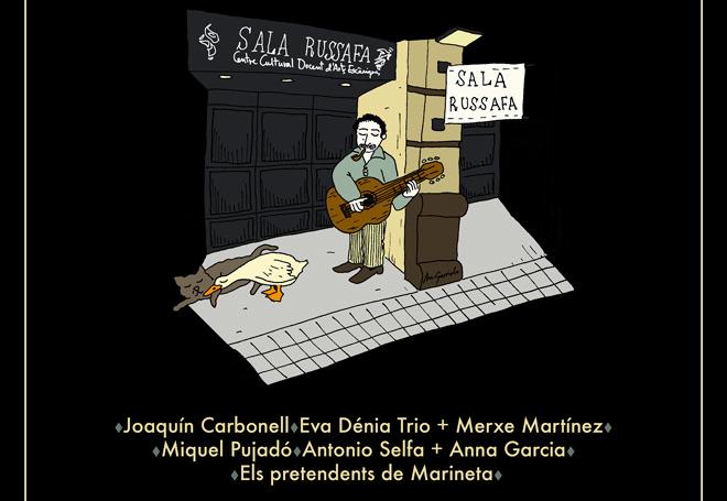 Georges Brassens será recordado en Valencia con un concierto a cargo de Eva Dénia, Joaquín Carbonell y Miquel Pujadó