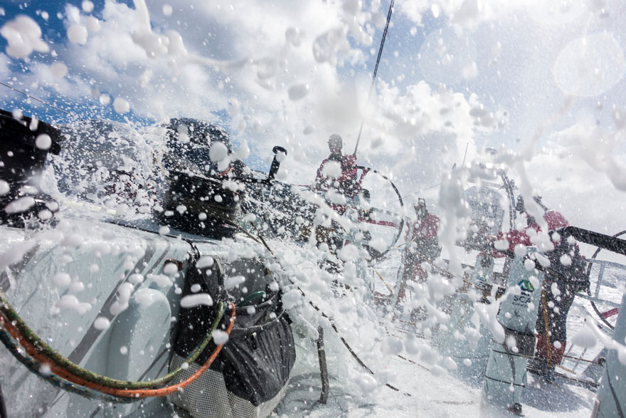 Una noche salvaje en el Océano Antártico. Volvo Ocean Race, www.globalstylus.com