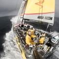 Abu Dhabi Ocean Racing en primera posición después de chocar contra un contenedor, www.globalstylus.com, www.stylusnautica.com,