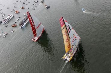 MAPFRE gana una posición y acaba cuarto en la Volvo Ocean Race 2014-15, con don Juan Carlos a bordo