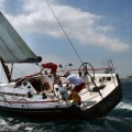 El fuerte mistral cruza la meta en la regata de las Mil Millas, www.globalstylus.com, www.stylusnautica.com,