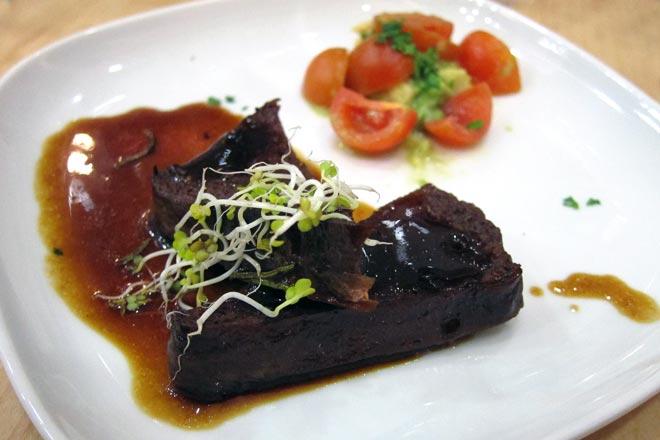Menú gastronómico vegetariano con vinos veganos de Pedro Olivares. Miobio Restaurant