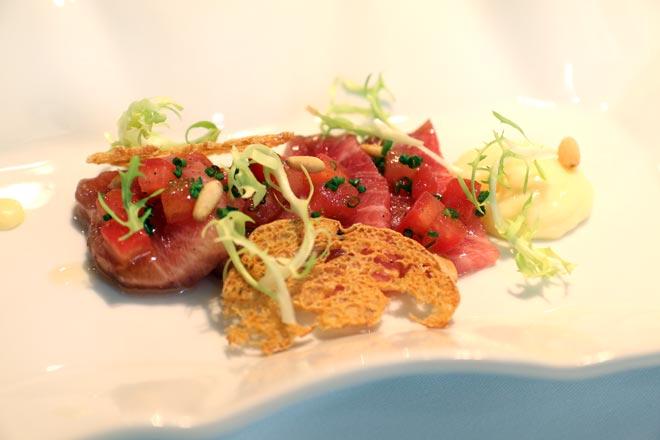 El atún rojo del Mediterráneo en Restaurante Apicius, Valencia