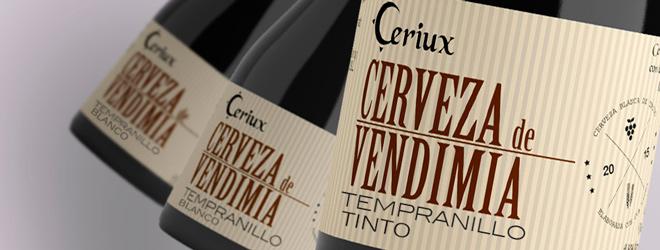 Ceriux, la cerveza rubia de Tempranillo blanco y tostada de Tempranillo tinto
