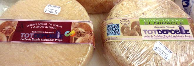 Los quesos artesanales de leche de oveja de 'Tot de Poble'