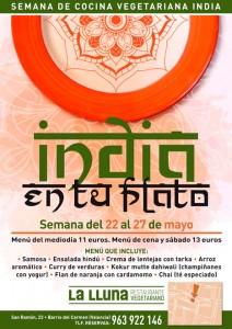 La cocina vegetariana de India en La Llluna, València