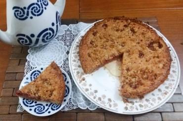 Crumble de frambuesas, la tarta británica del racionamiento