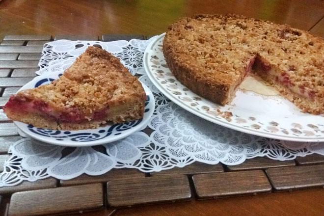 Receta Crumble de frambuesas, la tarta británica del racionamiento