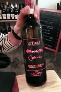 Carbonile 2015, un vino de la Toscana para un tataki de atún