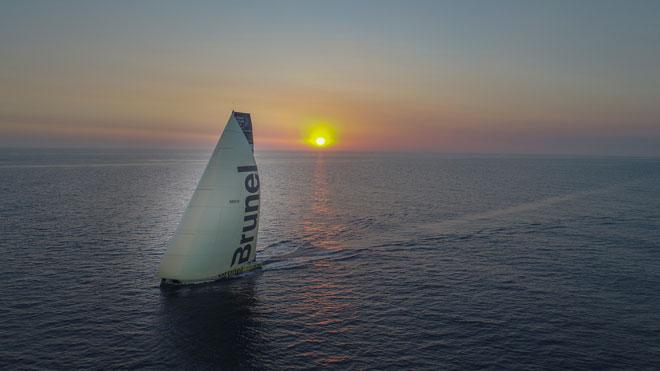 drone shots Rich Edwards Volvo Ocean Race
