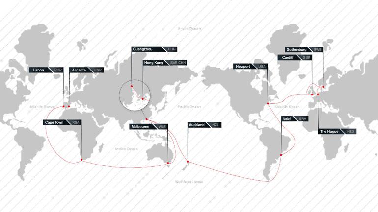 Singladura de la Volvo Ocean Race 2017-18
