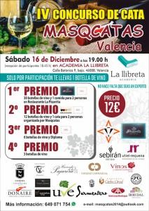 Ya está lista la cuarta edición del Concurso de Cata MASQCATAS, València 2017