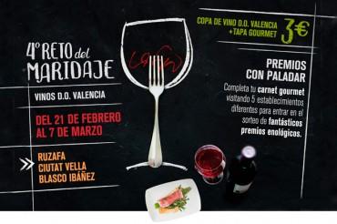 Vinos DO Valencia y tapas gourmet en el 'Reto del Maridaje'