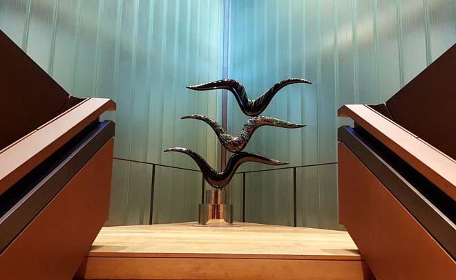 'Del Mar a las Estrellas', las esculturas de José Manuel Robles en Bodegas Portia