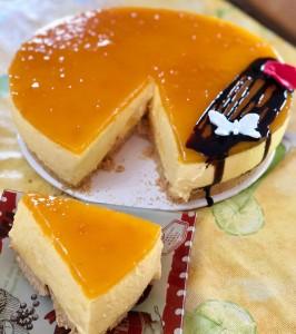 Tarta de mango, receta sencilla, rápida y sin horno