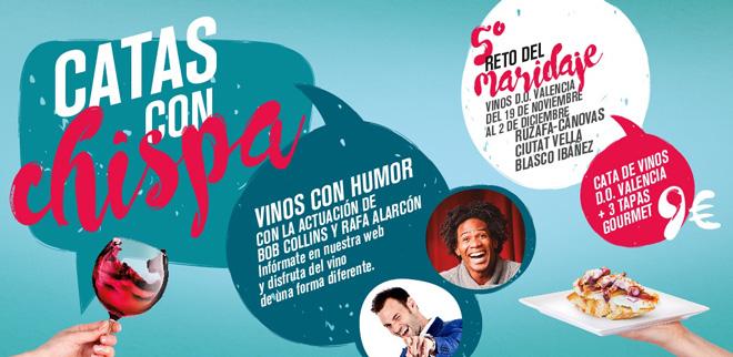 Vinos, tapas y humor, en el 5º reto del maridaje de la DO Valencia