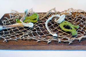 Espinas de anchoas con tempura de arroz de Pals