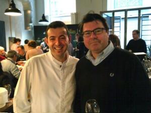 El chef Ricard Camarena junto a Rodolfo Valiente