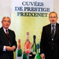 El Presidente de la Real Academia de la Gastronomía Española Rafael Ansón el director de comunicación de Freixenet Pedro Bonet