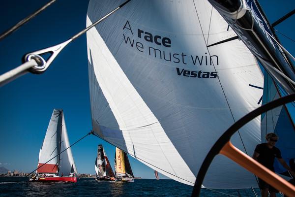 Team Vestas Wind gana la Leg 0 - Foto Brian Carlin - Volvo Ocean Race