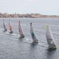 Team Brunel lidera la salida de Alicante - Foto: Ainhoa Sanchez - Volvo Ocean Race