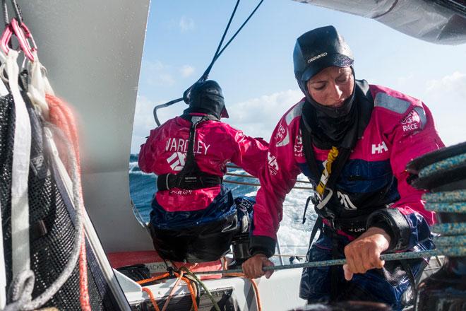 Histórica victoria del equipo femenino SCA en la etapa 8 de la Volvo Ocean Race