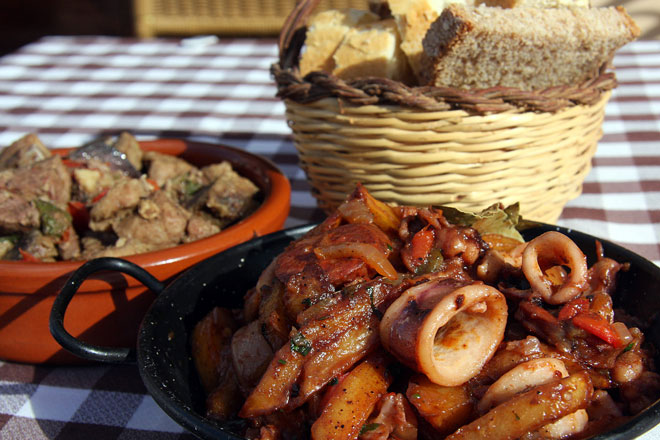 Plato de 'frit de polp' Formentera