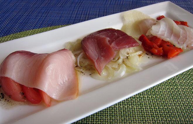 Ensalada de ahumados La mejor calidad a la plancha. Aperitivo Bar, Godella, Valencia, www.globalstylus, www.stylusgastro,