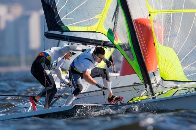 Diego Botín y Iago López Marra en su primera participación olímpica. Foto: Sailing Energy