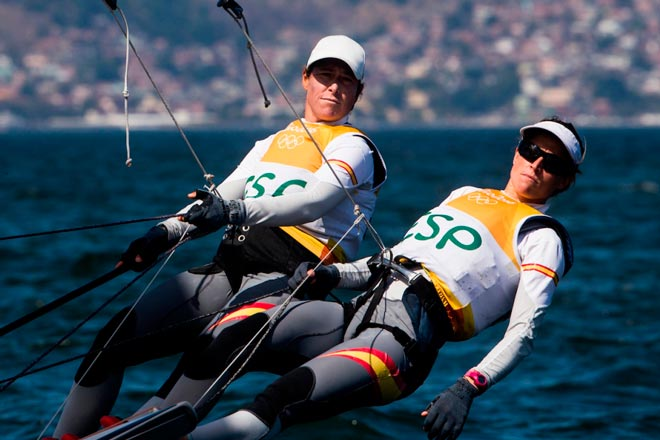 Echegoyen y Betanzos han luchado hasta el final por subir al podio en FX. Foto: Sailing Energy