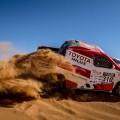 Nani Roma y Toyota pierden el podio en la última etapa del Rally OiLibya de Marruecos