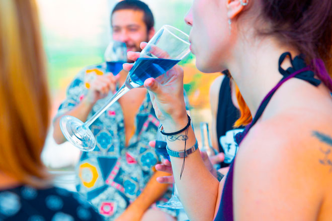 Gïk Live, el vino azul para sentir la juventud