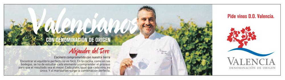 El Chef Alejandro del Toro, nuevo embajador de la DOP Valencia