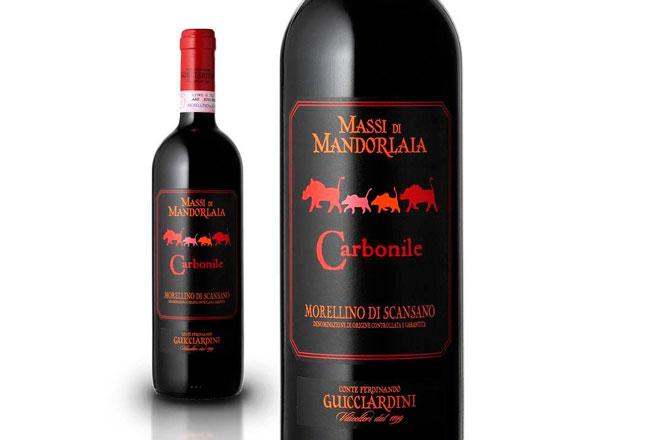 Carbonile 2015, un vino de la Toscana para un tataki de atún. Palao Bistrot