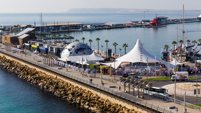 Alicante Stopover Race Village Photo by Pedro Martinez Volvo Ocean Race