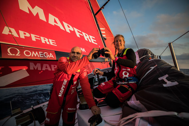 on board MAPFRE Photo by Jen Edney Volvo Ocean Race