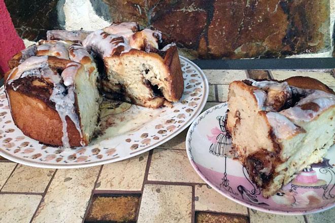 Rollo de canela, o cinnamon rolls, el aromático bollo de la repostería norteamericana