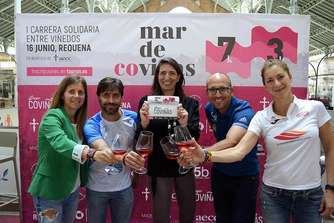 Coviñas presenta la carrera solidaria entre viñedos contra el cáncer de piel 'Mar de Co-Viñas'