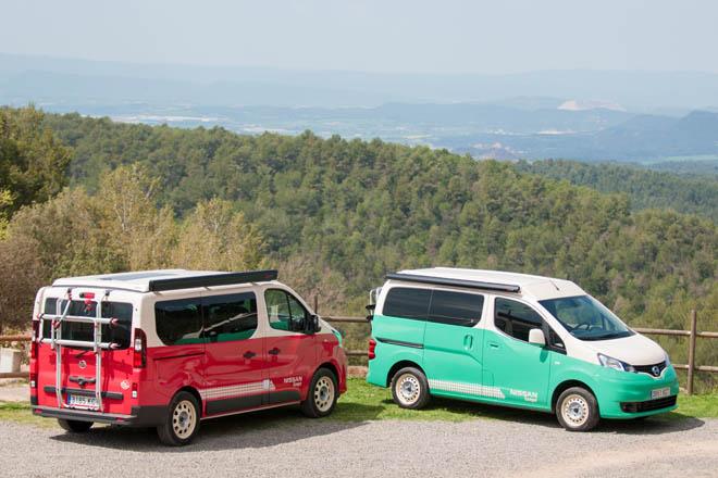 Nissan Camper el vehículo ideal para ir de aventura, NV200, NV300 Y E-NV200