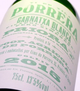 Cims de Porrera blanc 2015, Garnatxa Blanca, Picapoll i Pedro Ximénez