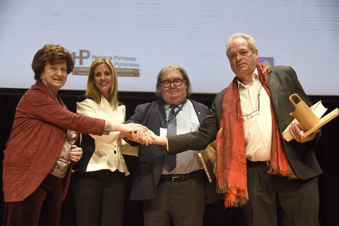 Los cocineros Antonio Arazo y Jean-Pierre Saint Martin reciben los Premios Teodoro Bardají en Hecho en los Pirineos