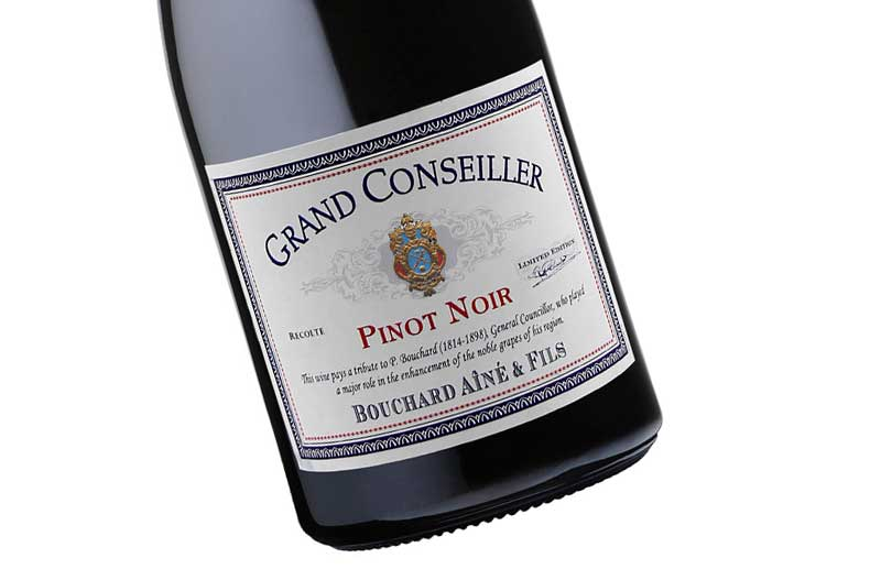 Grand Conseiller Pinot Noir, in Tribute to Great Councillor P. Bouchard