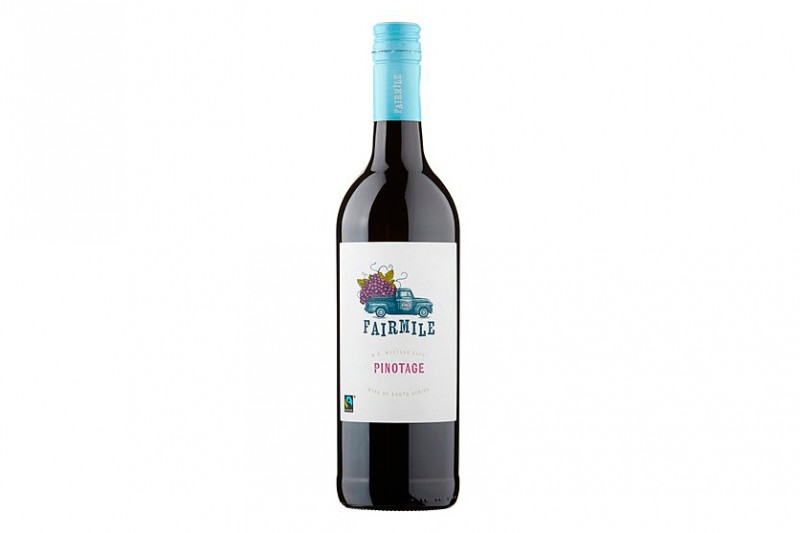The Fair Mile Fair Trade Pinotage 2018, a red wine made from South Africa's emblematic grape variety
