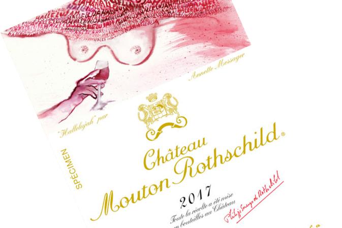 Etiqueta con mensaje para el Mouton Rothschild 2017