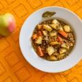 Lentejas al curry con manzana, dulce y picante
