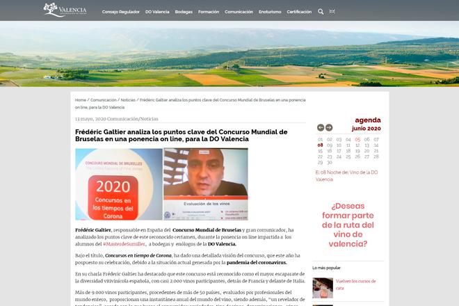 DO Valencia, webinar